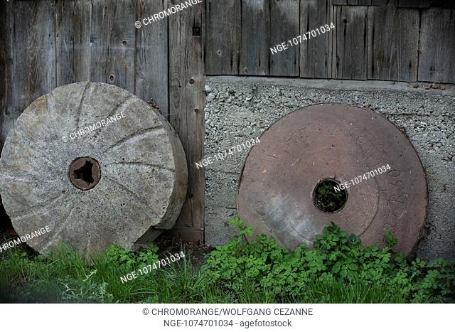 Mill Stones at a Water Mill