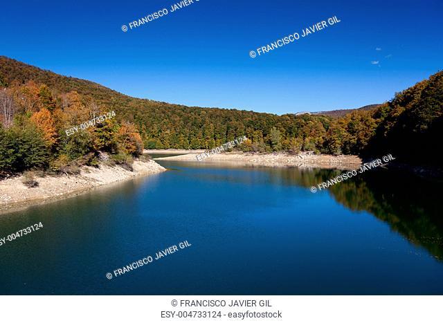 Resorvoir of Irabia, Selva de Irati, Navarra, Spain