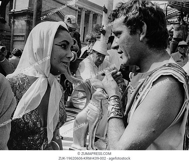 June 6, 1962 - Rome, Italy - Two time Academy Award winning screen legend ELIZABETH TAYLOR, known for her glamorous Hollywood lifestyle and numerous husbands...