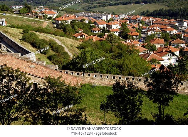 Bulgaria, Belogradchik, View of the twon from the Fortress