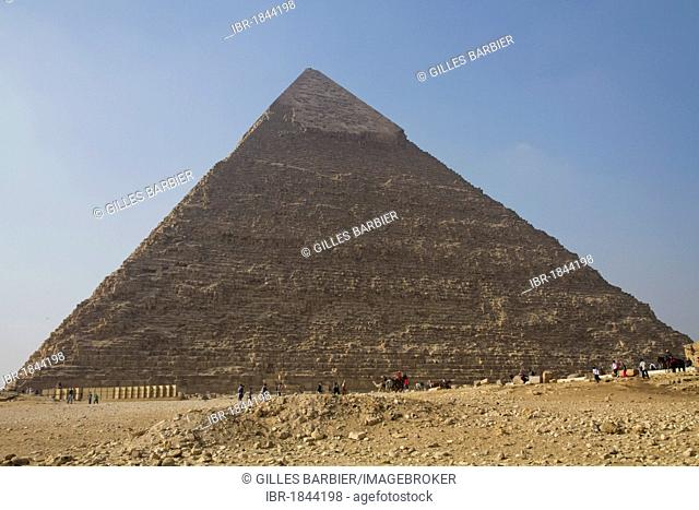 Great Pyramid of Giza, or Pyramid of Khufu or Pyramid of Cheops, Cairo, Egypt, Africa