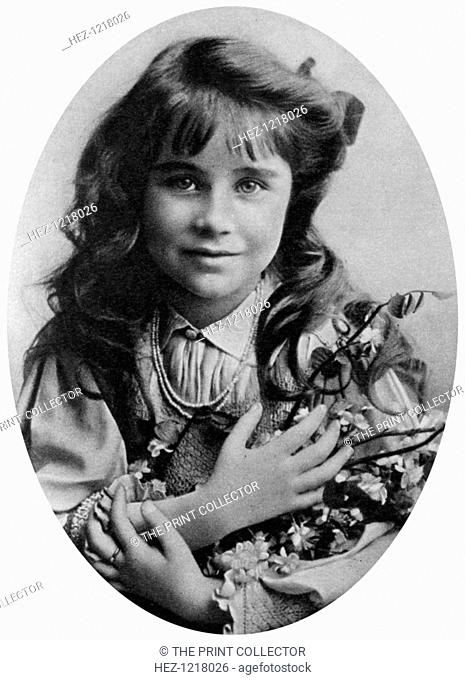 The Queen Mother at seven years old, 1907 (1937). Lady Elizabeth Bowes-Lyon (1900-2002) became the mother of Queen Elizabeth II