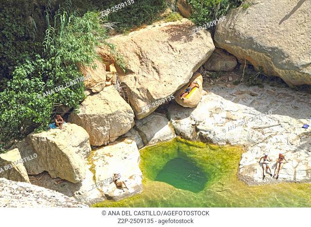 Portellada cascade El Salt Matarranya county Teruel Aragon Spain
