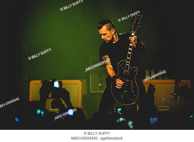 Billy Duffy, guitarist of the band The Cult, in concert at Alcatraz. Milan, Italy. 26th June 2017