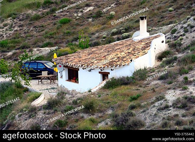 cavehouse in Galera, Granada Province, Andalusia, Spain, Europe