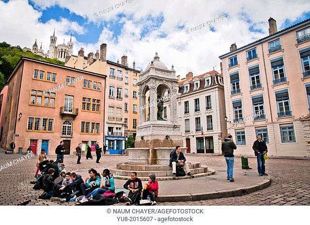 The Place des Jacobins square, Lyon, France, Europe