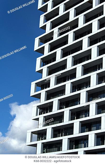 Bjarke Ingels Group Architects designed Vancouver House, a tower under construction in Vancouver, BC, Canada