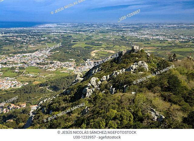 Sintra seen from Dos Moros Castle, UNESCO World Heritage Site  Lisboa district  Portugal