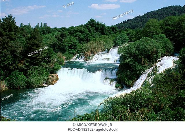 Krka waterfalls, national park Krka, Dalmatia, Croatia