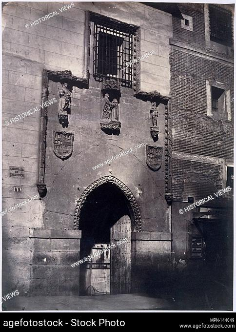 [Madrid. Facade of the Hospital of La Latina]. Artist: Charles Clifford (Welsh, 1819-1863); Date: ca. 1857; Medium: Albumen silver print from glass negative;...