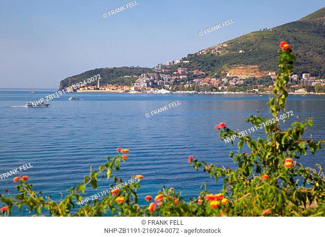 Europe, Montenegro, Budva Bay, View of Old Town