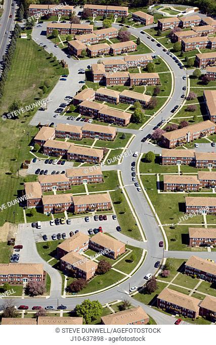 Housing development, aerial view,  Poughkeepsie, New York. USA
