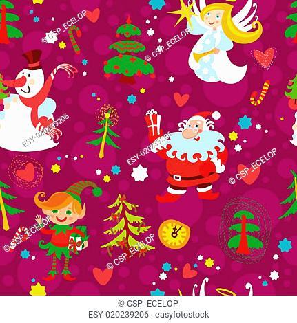 Christmas seamless wallpaper