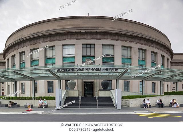 New Zealand, North Island, Auckland, Auckland War Memorial Museum, exterior