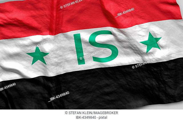 Syrian Flag with IS writing, Computer Graphic