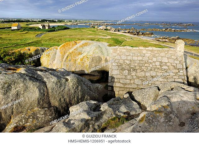 France, Finistere, Pays des Abers, Legends Coast, Meneham hamlet, the guard house, former customs post of the 17th century