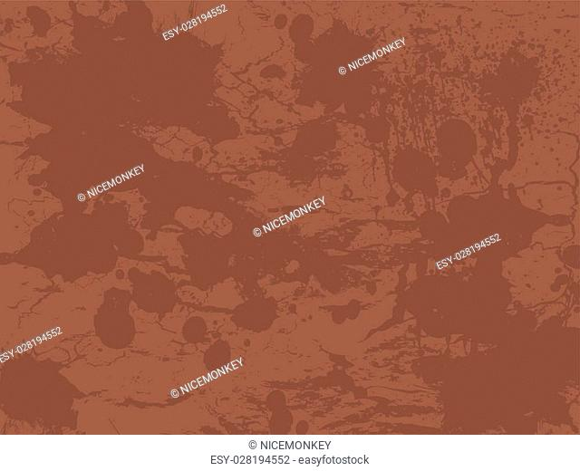 Textured ink splat design in different shades of brown