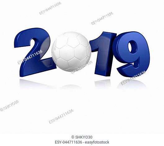 Handball 2019 Design with a White Background