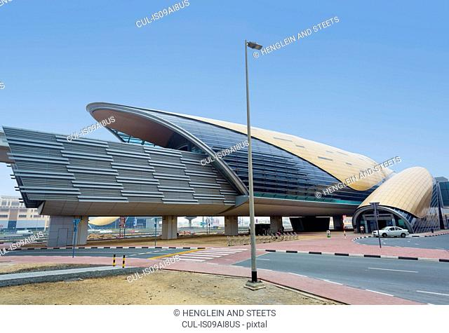 Downtown Dubai Metro Station at daytime, United Arab Emirates