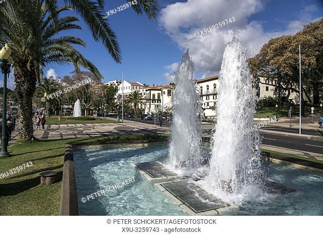 fountain and the Palace of Saint Lawrence, Funchal, Madeira, Portugal, Eu rope