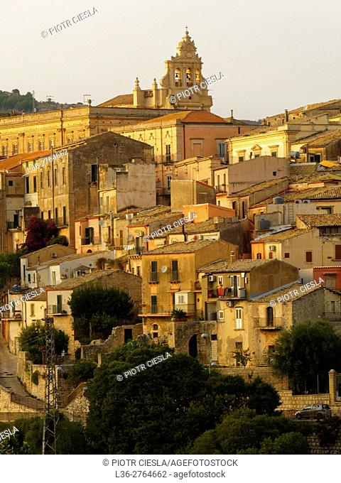The town of Ragusa - Sicily, Italy
