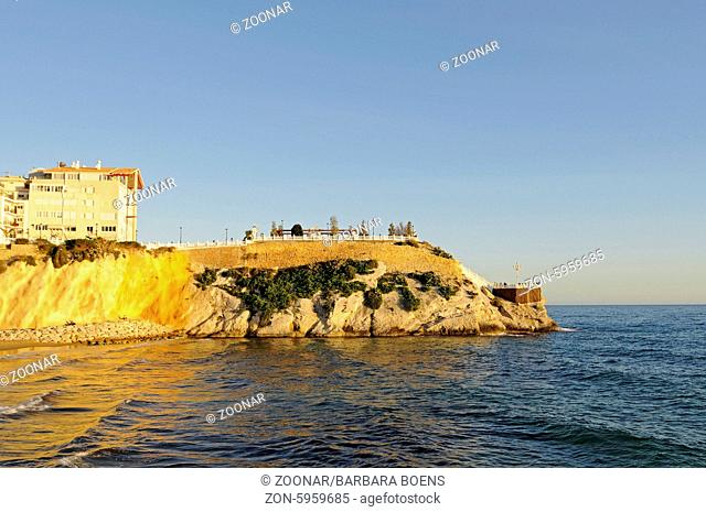 Playa de Mal Pas beach, Balcony of the Mediterranean, observation deck, evening light, Benidorm, Costa Blanca, Spain, Europe, Strand Playa de Mal Pas