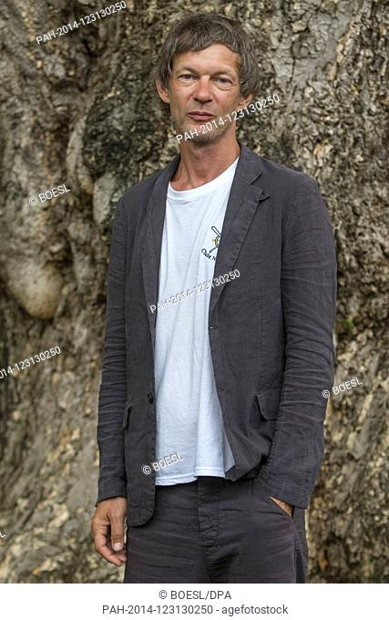 Sebastian Rudoplh poses at the photocall of 'Das freiwillige Jahr' during the Film Festival in Locarno, Switzerland, on 10 August 2019
