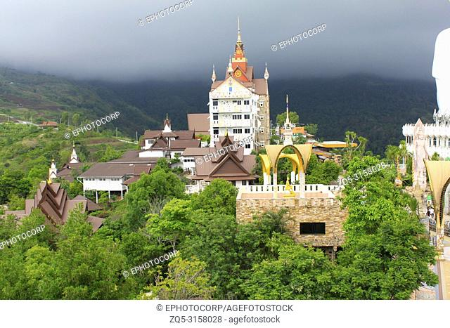 Buddhist monastery in the valley based near the temple of Pha Sorn Kaew, Khao Kor, Phetchabun, Thailand