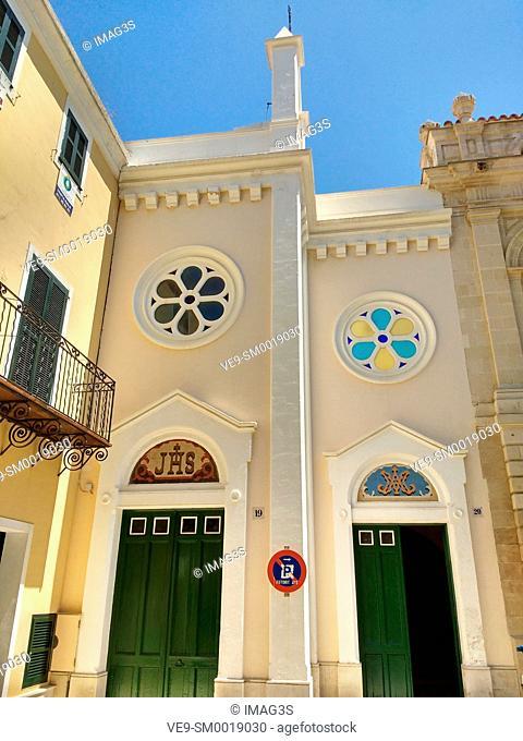Church, Mahon, Minorca, Balearic Islands