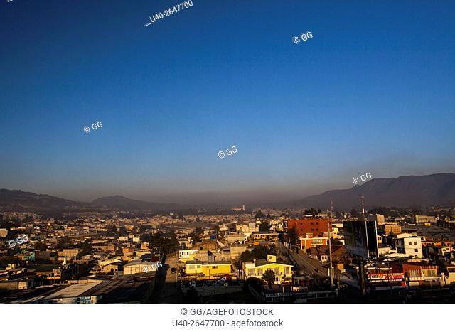 Guatemala, Quetzaltenango, early morning city view