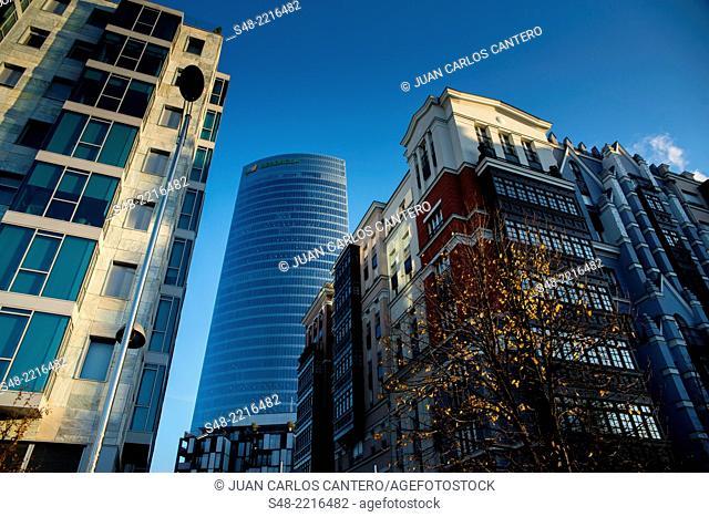 Tower Iberdrola. Bilbao. Vizcaya. Basque Country. Spain. Europe