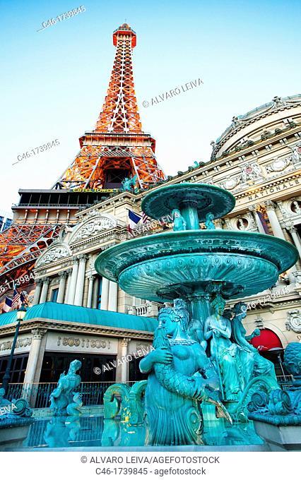 Paris Hotel on The Strip Las Vegas Boulevard, Las Vegas, Nevada, USA