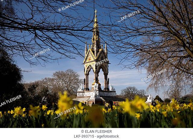 The Albert Memorial, Hyde Park, London, England, Great Britain