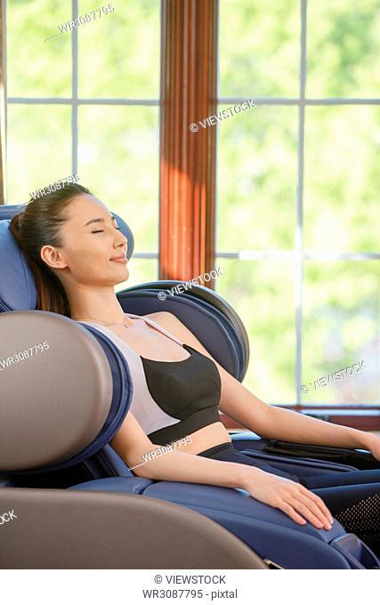 Young women do massage