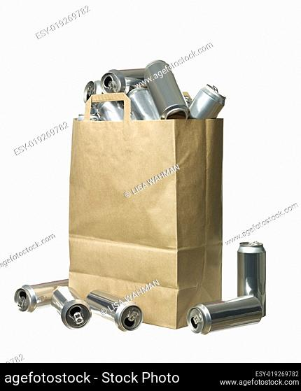 Bag of aluminium cans