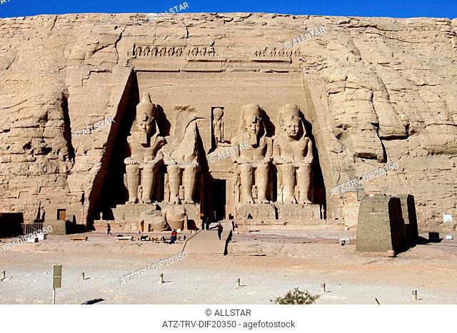 THE GREAT TEMPLE OF RAMESSES II; ABU SIMBEL, NUBIA, EGYPT; 11/01/2013