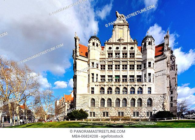 Saxony, Leipzig, New Town Hall, in the corner of Martin-Luther-Ring, Chief Burgomaster