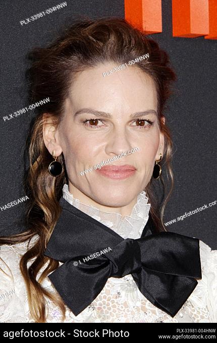 "Hilary Swank 03/09/2020 The Special Screening of """"The Hunt"""" held at The ArcLight Hollywood in Los Angeles, CA. Photo by I"