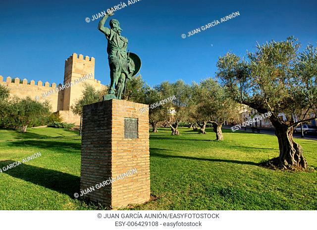 Bronze Statue of Ibn Marwan, Founder of Badajoz, Spain