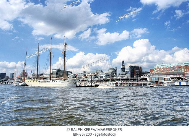 Quay in Hamburg Harbour, Germany, Europe