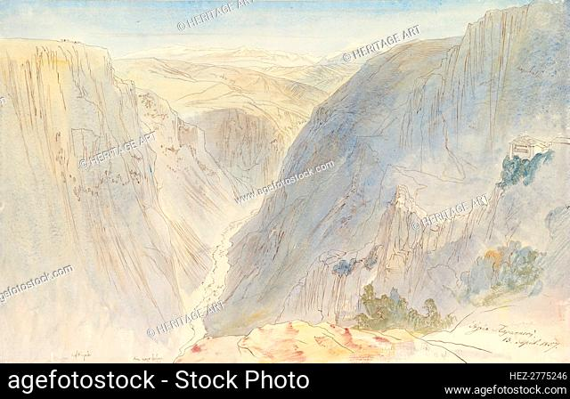 Agia Paraskevi, Epirus, Greece, April 13, 1857. Creator: Edward Lear