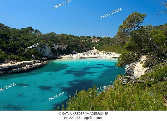 Cala Santanyi with a beach, Majorca, Balearic Islands, Spain, Europe
