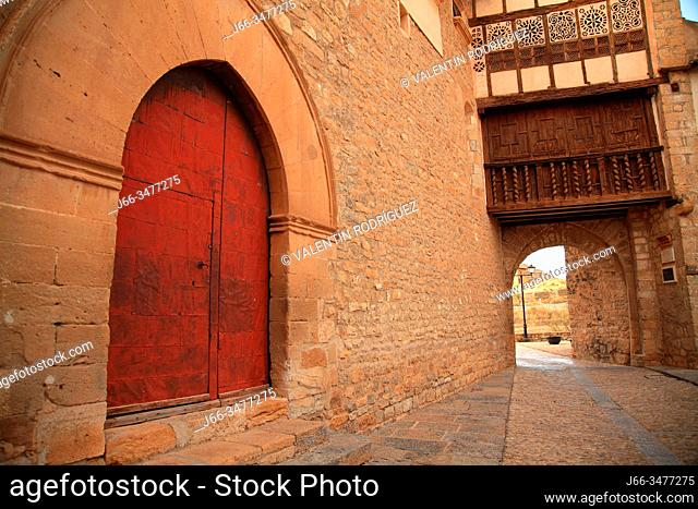 Portal of the Nuns in Mirambel. Teruel