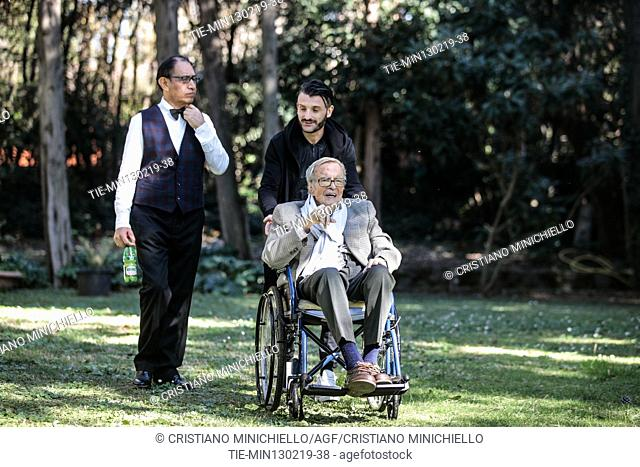 The director Franco Zeffirelli presents at his home opera 'La Traviata' that will go on stage to Arena of Verona in Rome, ITALY-13-02-2019