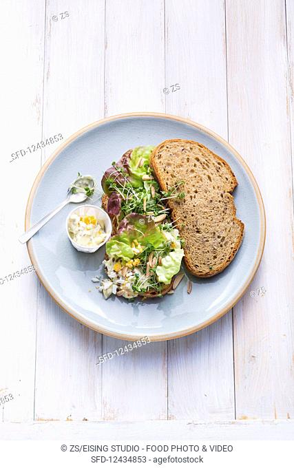 Fitness bread with egg mayonnaise
