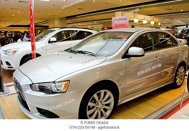 Car display at Landmark shopping mall, Makati, Philippines