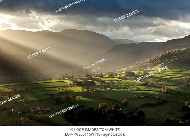 Rays of sunlight in the Lake District