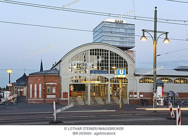 Subway Station and Narva Tower, Oberbaumcity, Berlin, Germany