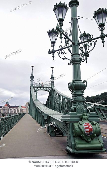 Fragment of Liberty Bridge, Hungary, Budapest, Europe,