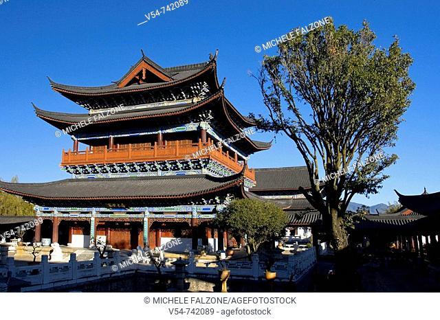 Mu Family Mansion (Mushi Shisifu), house of a former Naxi Chieftain, UNESCO Lijiang Old Town, Yunnan Province, China